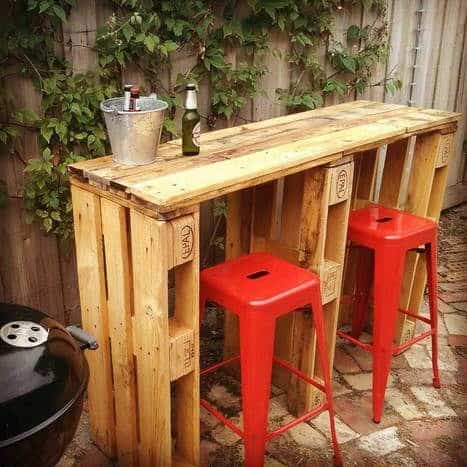 Modern Wooden Pallet Bar Design
