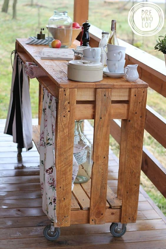 Wooden Pallet Bar For 'Tea Time'