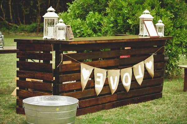 Wooden Mystique Pallet Bar