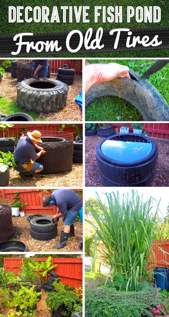 A Cost-Free DIY Fish Pond Using Old Tires!