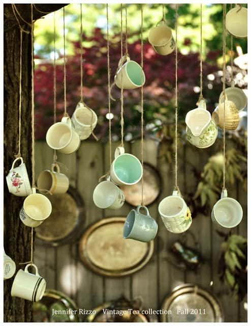 Re-purposing Old Vintage Tea Glasses to Add Style To Your Garden!