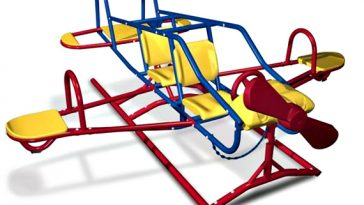 Seven Child Airplane Teeter Totter