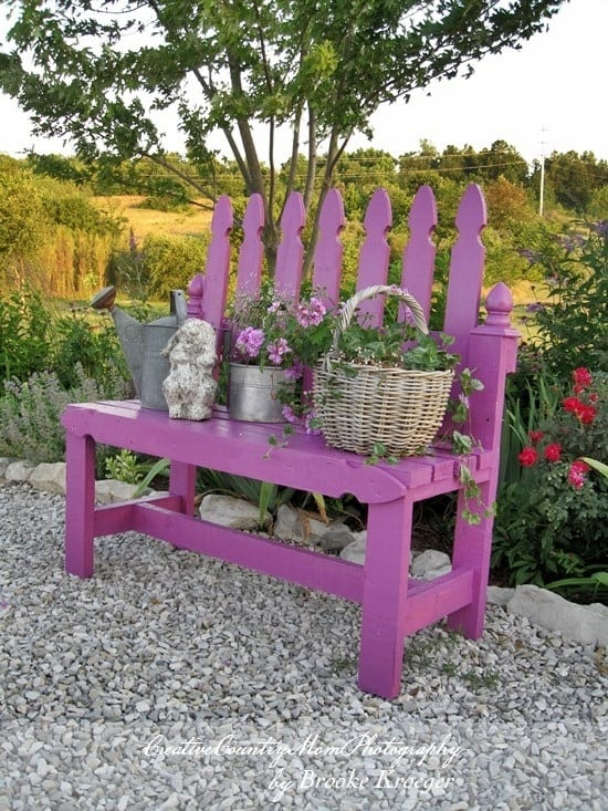 Picket Fence Bench