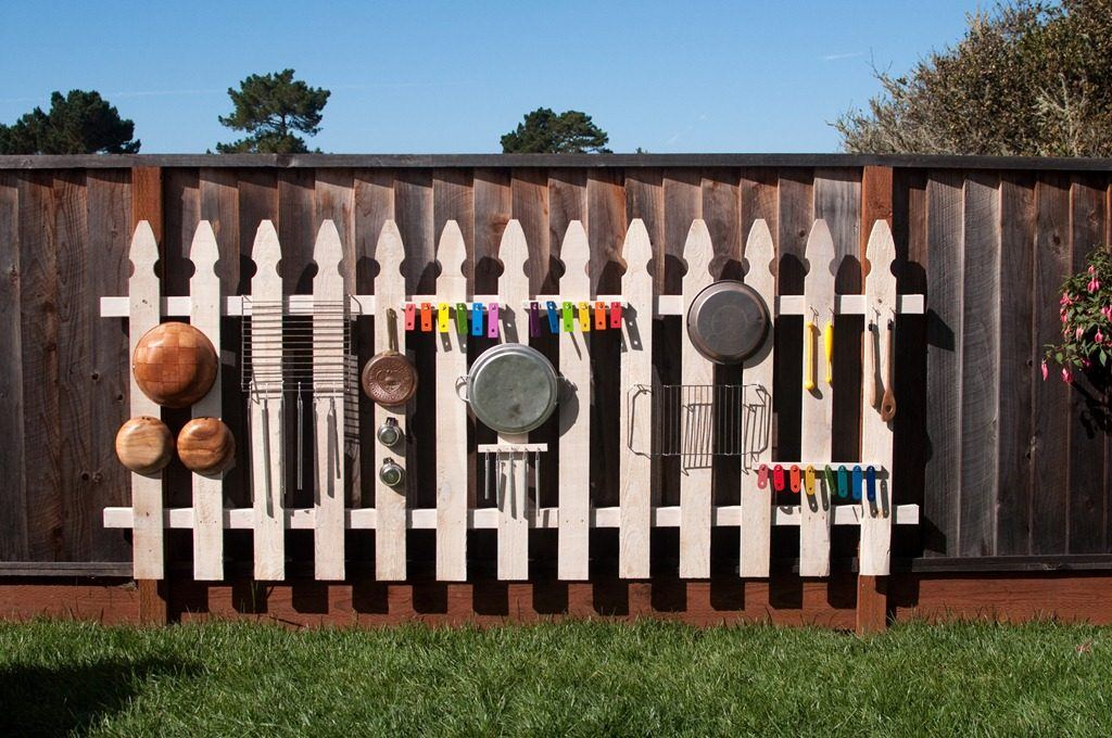 DIY Outdoor Music Fence!