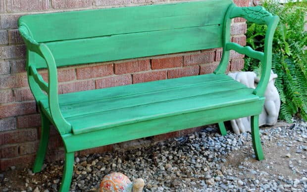 green-bench-in-the-garden