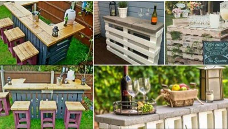 Backyard Pallet Bars