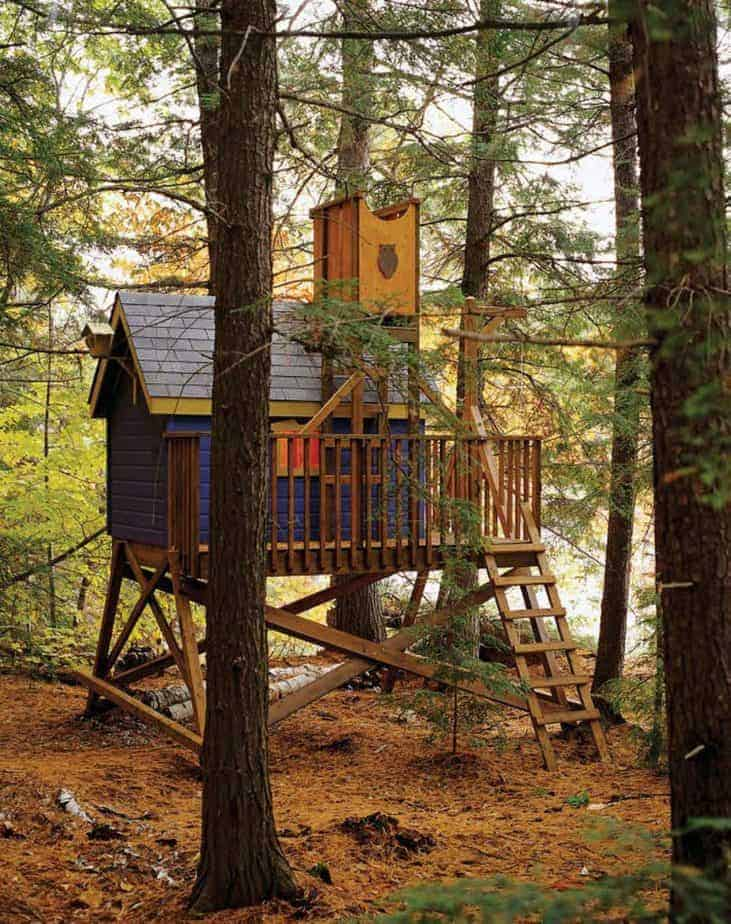 a deluxe and gorgeous treehouse