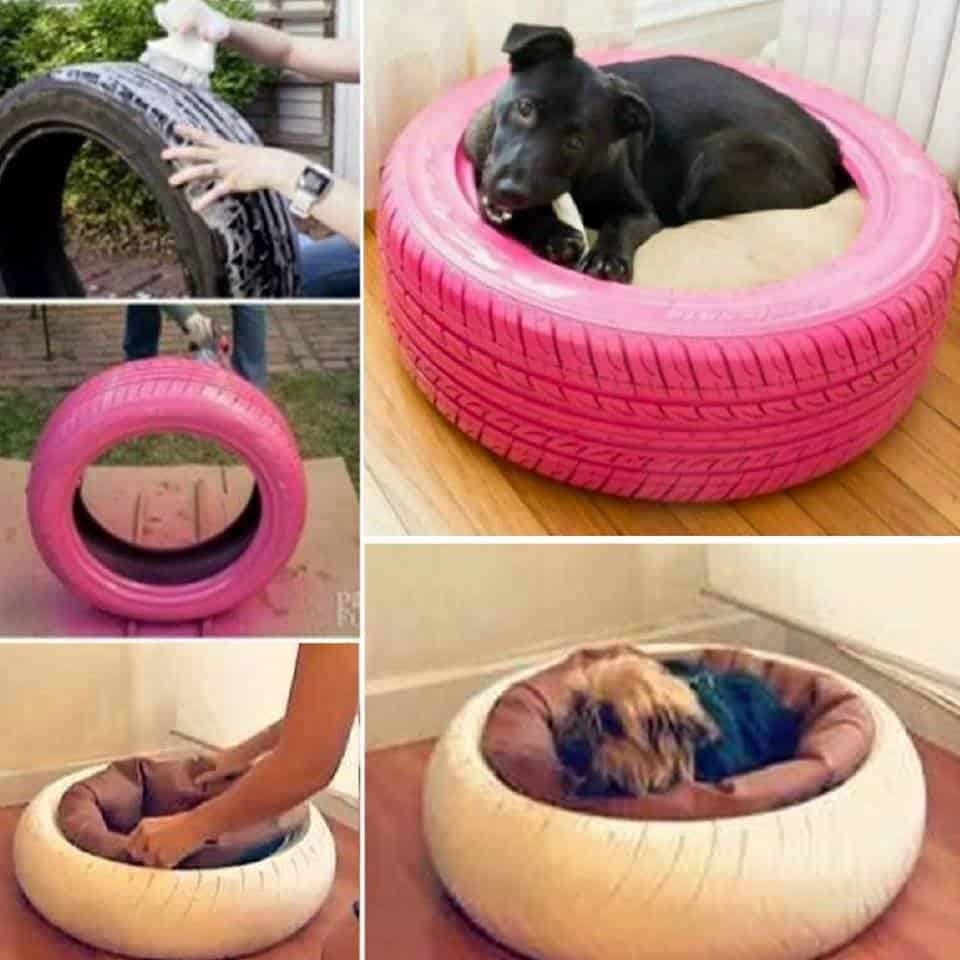 recycled tire dog bed