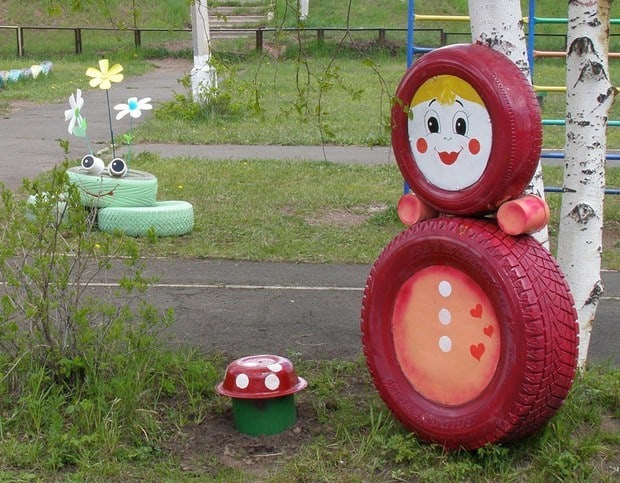 recycled tire fairy tale adventures