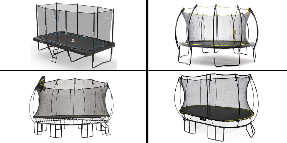 different shapes of trampolines