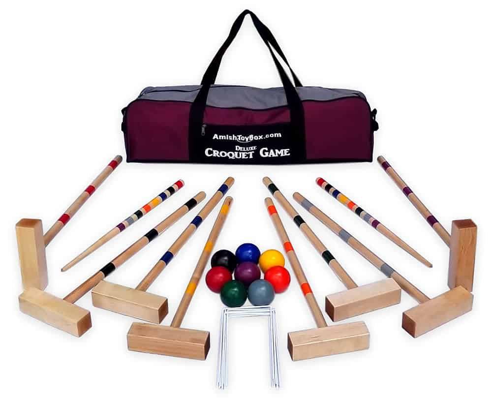 AmishToyBox croquet game set