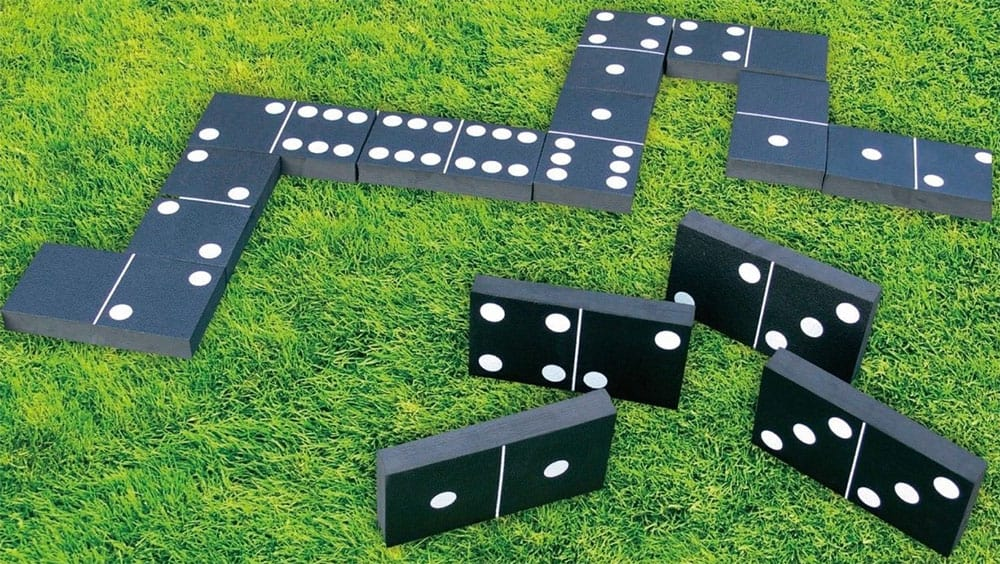 giant black dominoes