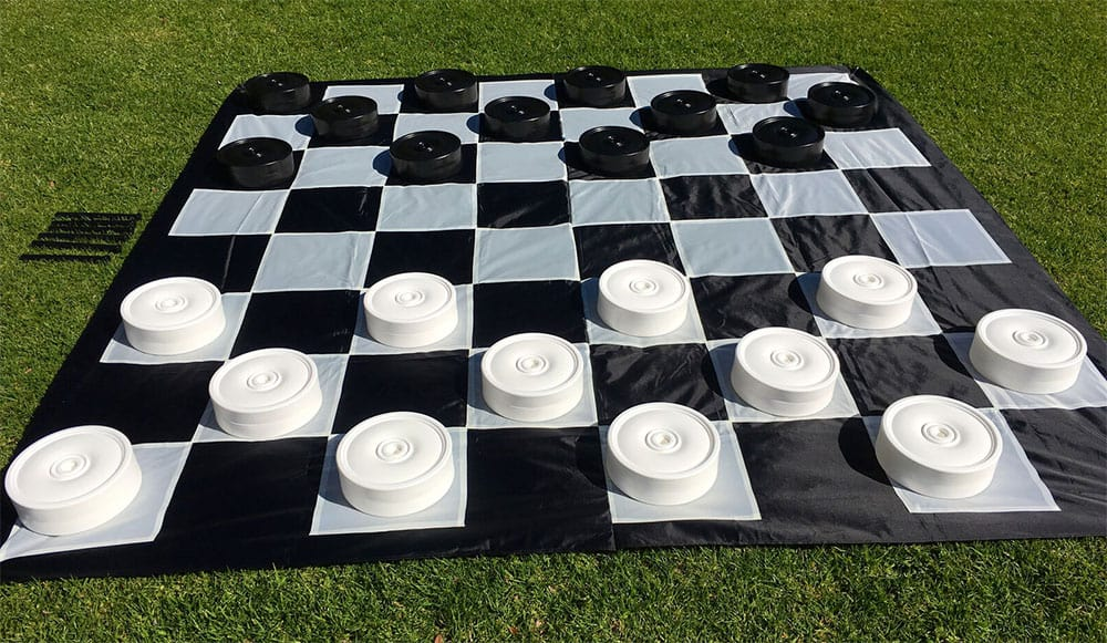 giant checkers on the lawn