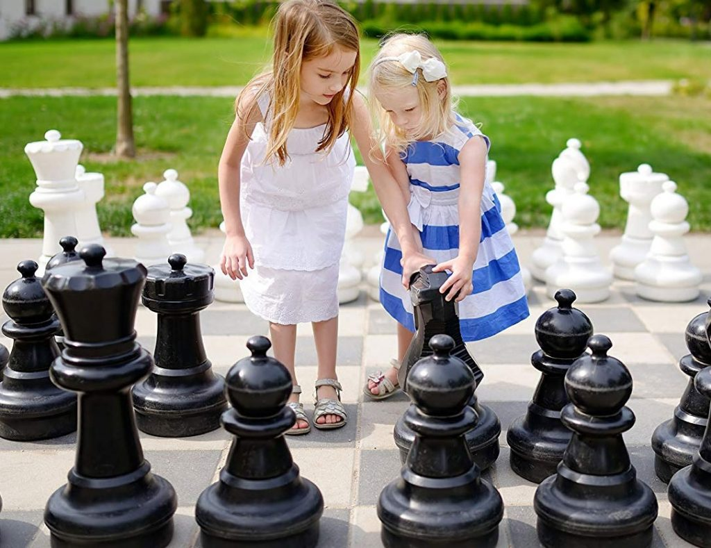 giant chess at the backyard