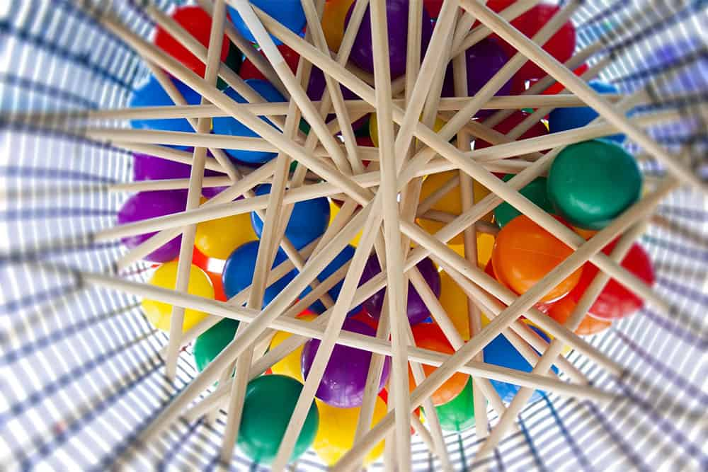 giant kerplunk picture from below