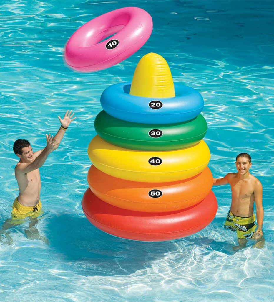 giant ring toss at the pool