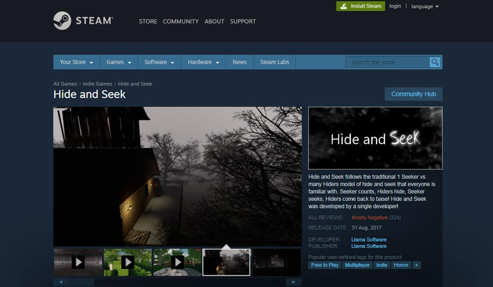 steam hide and seek online game