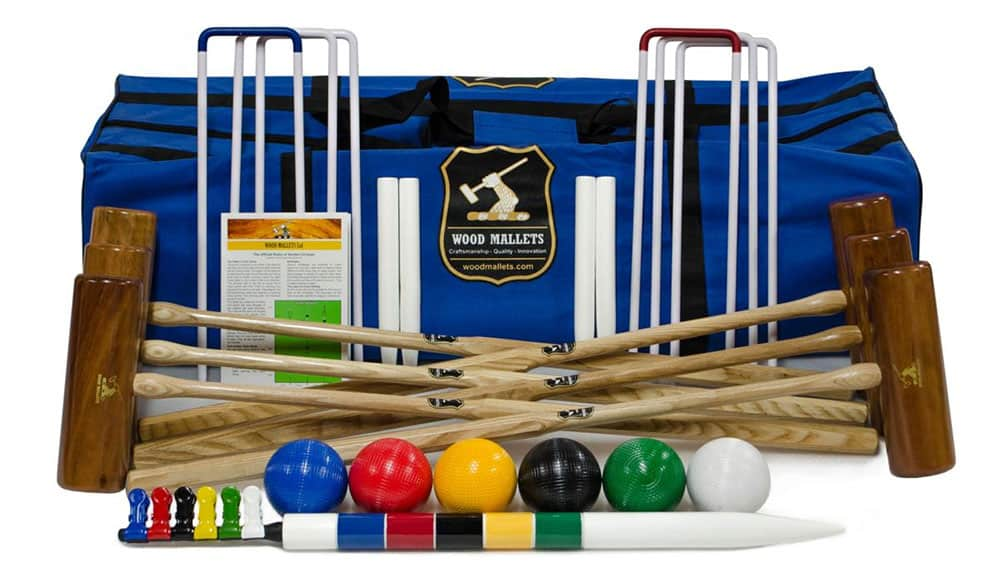 Wood Mallets Premium Garden Croquet Set
