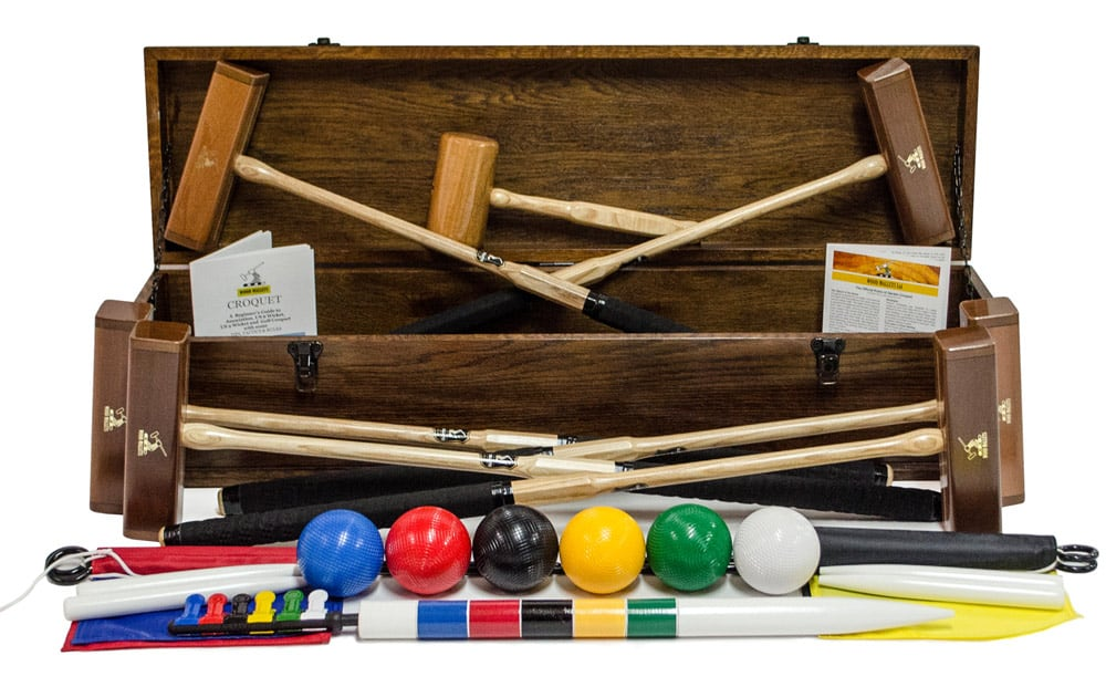 Wooden Mallets signature croquet set