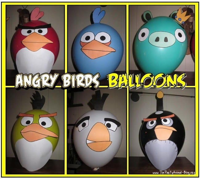 Angry Birds balloon printables