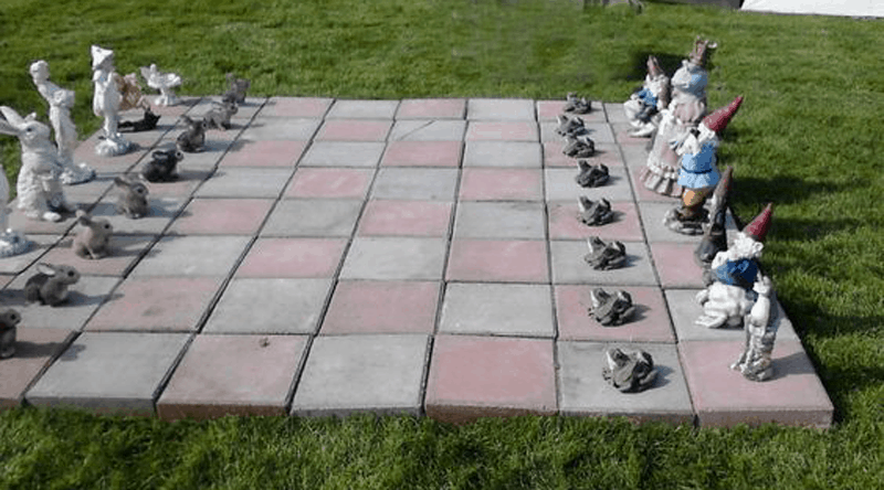 Garden Gnome Giant Chess Set