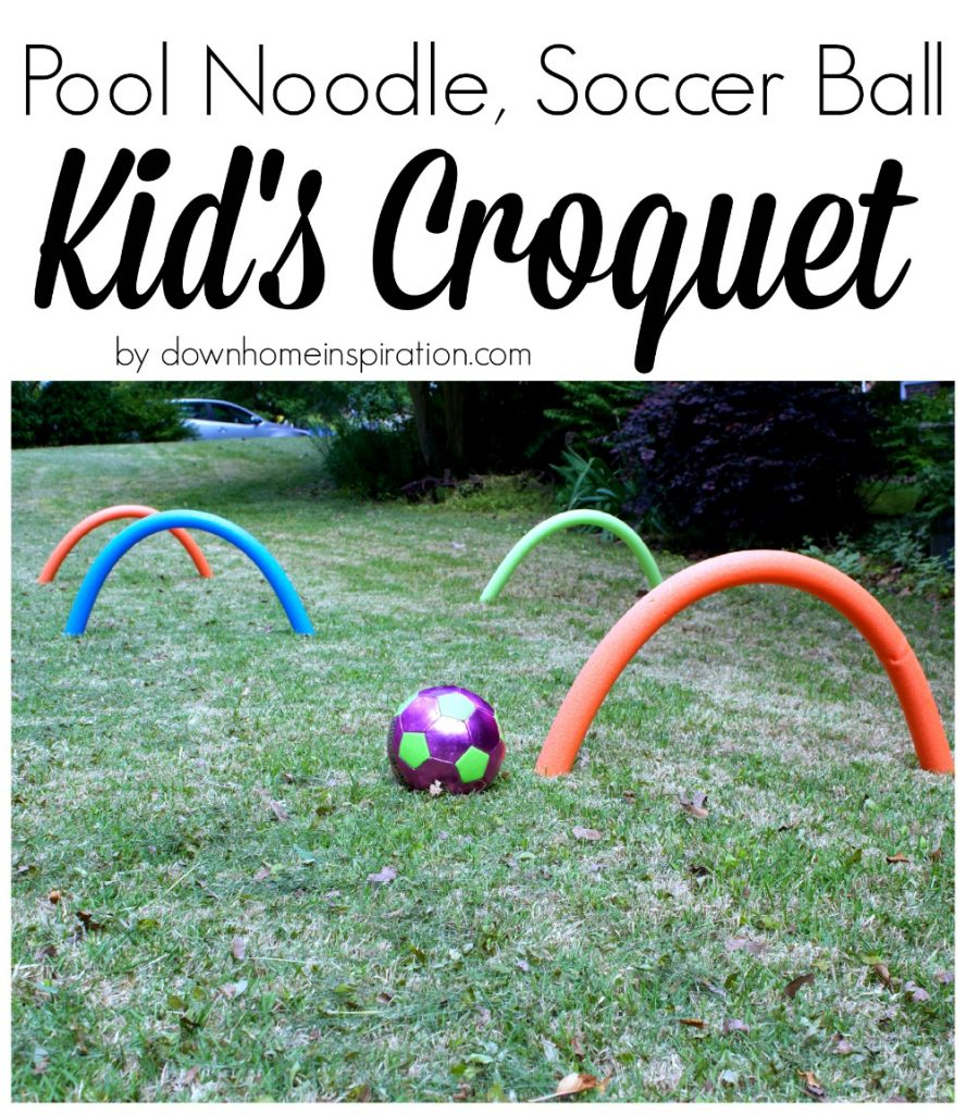 Pool Noodle Giant Croquet Game