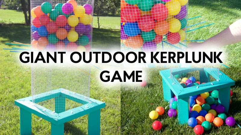 Simple Giant KerPlunk game you can build
