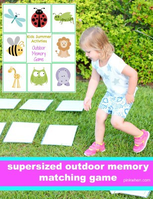 Supersized outdoor memory games