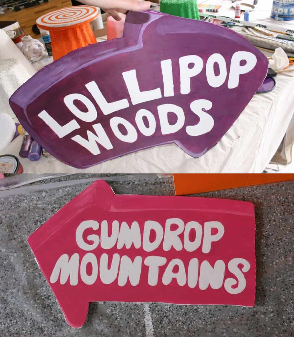 Awesome Candyland hand painted road signs