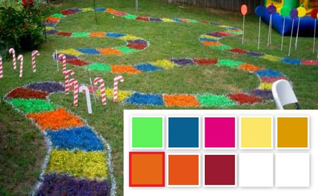 paint scheme for Giant Candyland game