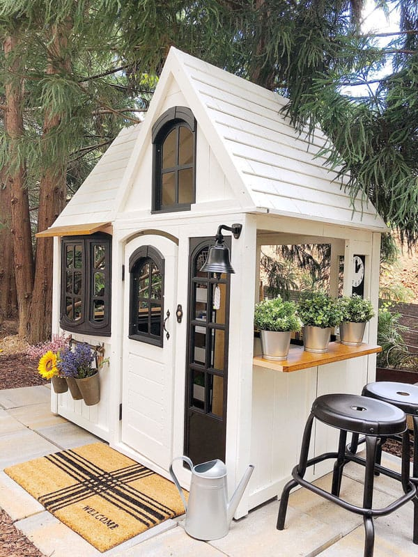 Custom DIY Kidscraft playhouse