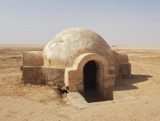 Luke Skywalker's desert house from star wars