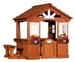 Scenic Wooden Playhouse