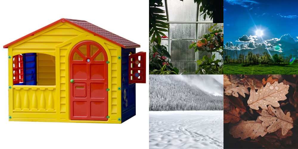 a playhouse and the weather